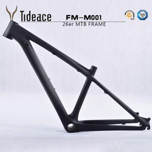 T800 Carbon Fiber OEM MTB Bike Frames 26er Mountain Bicycle Frameset 14'' 3K