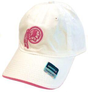Washington Redskins NFL Reebok White Pink Logo Slouch Hat Cap Women's Adjustable