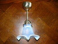 Rarität Original Opalin Jugendstil Lampe Deckenlampe Jugendstillampe ca. 1920