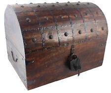 "HUGE Colossus 22""x16""x16"" Pirate Treasure Chest Box Antique Style"