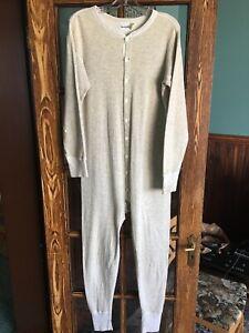 Duofold Cotton Wool One-Piece Long Johns Mens L Union Suit Underwear Base Layer