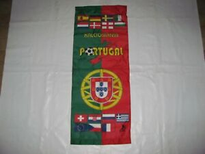 PORTOGALLO Europei 2004- Rare  Vintage BANDIERA calcio Football  - Made in Italy