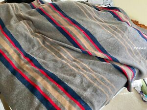 Pendleton Home Collection Wool Blanket, Queen Size 80 x 72 Inches Long Grey Used