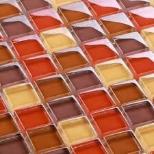 mosaïque céramique carrelage Cristal Rouge Mélange 8 mm