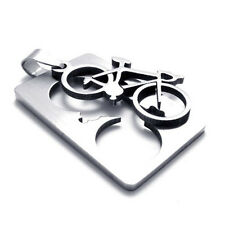 Pendant Necklace 50Cm Chain Jewellery Fashion Hot Stainless Steel Bike Bicycle