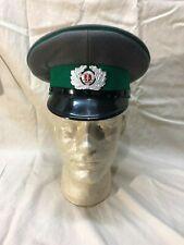 Vintage East German Border Guard Enlisted Service Hat Extra Large Size DDR 62