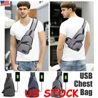Chest Pack Bag Crossbody Shoulder Bags Travel USB Charging For Nintendo Switch