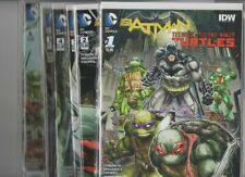 BATMAN TEENAGE MUTANT NINJA TURTLES #1,2,3,4,5,& 6  - Unread 9.2 NM condition