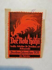 Der Rote Hahn - Dresdner Jahresschau 1935