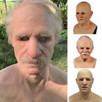Halloween Cosplay Bald Old Man Masks Scary Face Mask Party Props Horror Costume