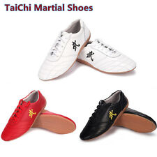 Top Leather Tai Chi Shoes Martial Arts Kung fu Shoes Tai Chi boxing Shoes