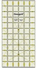 """Omnigrid 6 x 12"""" Ultimate Accuracy Quilt Ruler, R12"""