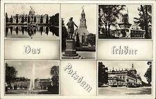 Postdam DDR s/w Mehrbild AK 1961 Schloß Sanssouci Garnisons Kirche Mühle u.a.