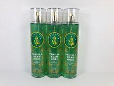 3 Bath & Body Works VANILLA BEAN NOEL Fine Fragrance Mist 8 fl oz / 236mL