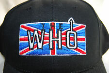 "BRAND NEW ""THE WHO"" CLASSIC BRITISH FLAG ROCK LOGO BLACK BALL CAP - HAT"