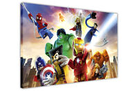 LEGO MARVEL POSE CANVAS PICTURES WALL ART PRINTS FANTASTIC 4 AVENGERS POSTERS