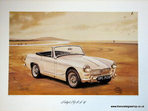 MG Midget ( G A N 4). Vintage Car Print. MG Print.