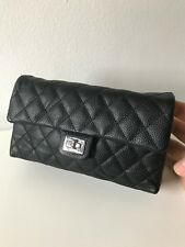 Authentic CHANEL Reissue Black Caviar Waist Clutch Bag