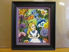 vintage Disney Alice In Wonderland Ceramic tile 1990's limited 7 of 10 artist