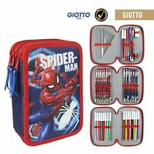 Marvel Spiderman Triple Trousse Set-remplie de 42 pièces 3 étages-Rouge