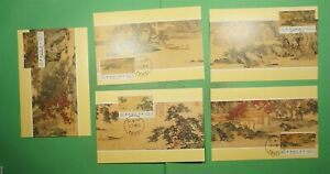 DR WHO 1986 TAIWAN CHINA FDC HERMIT ANGLERS MAXIMUM CARD SET OF 5 Lg10309
