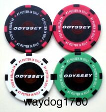 New Set of 4 Odyssey Poker Chips Club Putter Golf Ball Markers