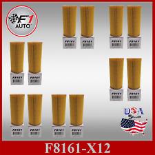 F8161 (CASE OF 12PCS) OIL FILTERS for 12-16 1.8L AUDI A4 ,17 2.0L GOLF R