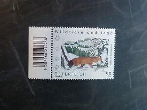 2012 AUSTRIA WILD ANIMALS AND HUNTING FOX MINT STAMP MNH