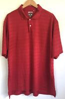 Adidas Golf Polo Shirt Climacool Red Stripes Men's Size XXL 2XL