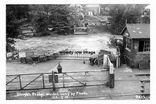 pt3972 - Sleights Bridge washed away , floods 23 July 1930 Yorkshire - photo 6x4