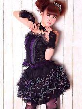 Gothic Punk Rock Dark Rainbow Lolita Skirt Tüll Minirock Tutu RQ-BL 36 38 40 42