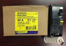 BRAND NEW SquareD QO240GFI QO240  2Pole 40Amp 120/240Volt Plug-In Groundfault