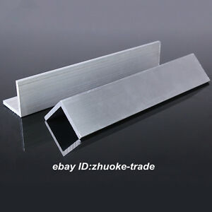 100x100x8mm Aluminum 6061 Angle 8mm Thick Any Length Cut Solid Frame Stock T6