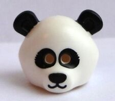 LEGO - Minifig, Headgear Mask Panda, Black Ears & Eye Pattern - White