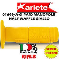 Coppia / Paio Manopole Moto HALF WAFFLE GIALLO ORIGINALI ARIETE 01699/A-G