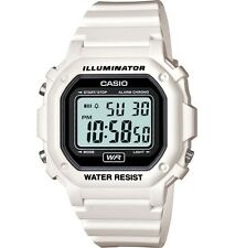 Casio F108WHC-7A Men's White LED Back Light Chronograph Alarm LCD Digital Watch