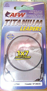 """AFW TITANIUM 12"""" & 18"""" LEADER 1X7 MULTI STRAND READY TO USE -CHOOSE WEIGHT CLASS"""