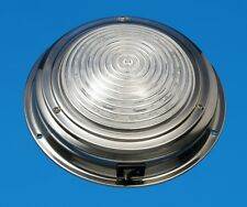 "LED Boat/Caravan Light - 5.5"" Dome - Stainless - Cool White LEDs - 12V"