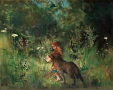 LARSSON LITTLE RED RIDING HOOD GIANT WALL POSTER ART PRINT LLF0554