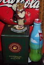 2012 WORLD OF COCA COLA GOLF WRAPPED 8 OUNCE GLASS BOTTLE & BOYD'S GOLF FIGURIN