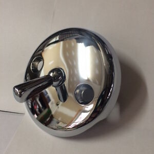 CHROME BATHTUB TUB DRAIN OVERFLOW TRIP LEVER  FACE PLATE KDS 538510 NEW
