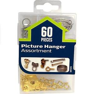 The Hillman Group 591515 Small Picture Hanger Assortment, 60-Pack