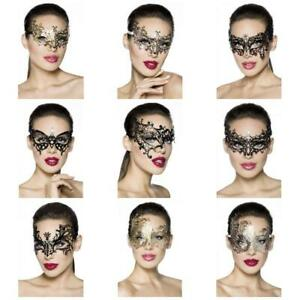 Atixo Metallmaske OneSize venezianische Karneval Maskenball Ballmaske Augenmaske