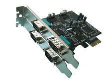 Card Pcie Serie RS232 PCI Express - 4 Ports Com DB9