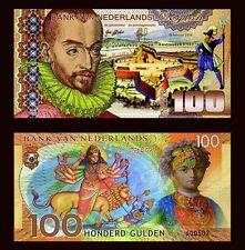 Netherlands Ceylon, 100 Gulden, 2016, Private Issue Polymer, UNC