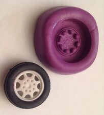 Wheel And Tyre Silicone Mould.car .mem.topper.birthday.cupcake.sport.baking.