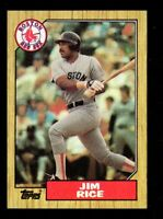 1987 Topps #480 Jim Rice Boston Red Sox HOF Baseball Card mrp-collectibles NM/MT