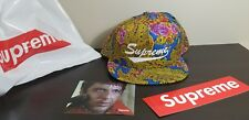 Supreme Blue Paisley 5-Panel Snapback Hat Script Logo FW17 IN HAND SOLD OUT NEW