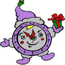 30 Custom Purple Christmas Clock Personalized Address Labels