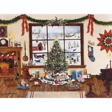 BITS AND PIECES JIGSAW PUZZLE CHRISTMAS MORNING CINDY MANGUTZ 1000 PC #41099